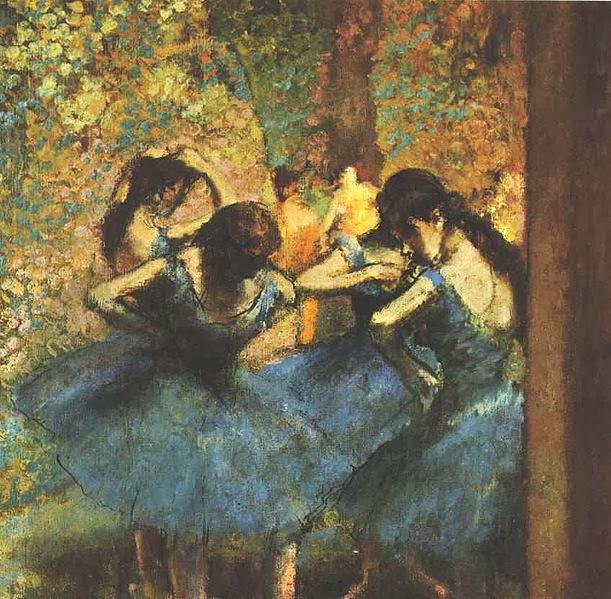 Edgar Degas Bailarinas azules