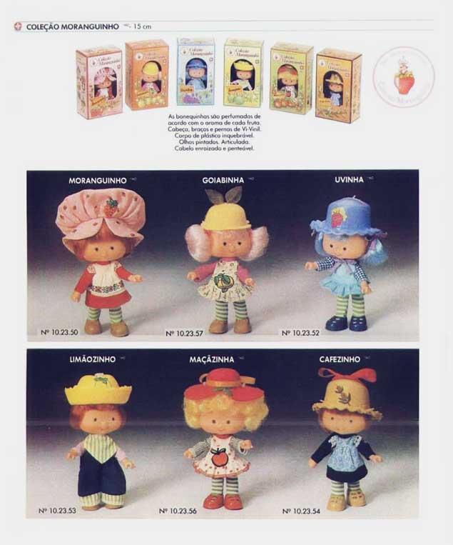 Catálogo Coleção Moranguinho anos 80