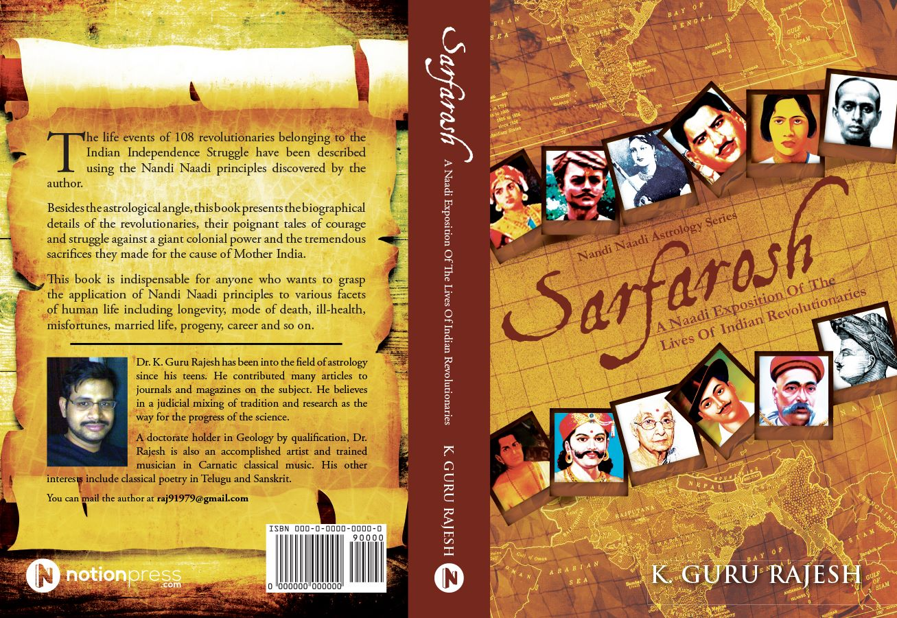 "Presenting one of most unanticipated book of Astrological Interpretation on Indian Freedom Movement in 1947-  ""Sarfarosh"" - ""A Naadi Exposition of the Lives of Indian Revolutionaries"" in Vedicsiddhanta Bookshop -Must  have book for nadi lovers"