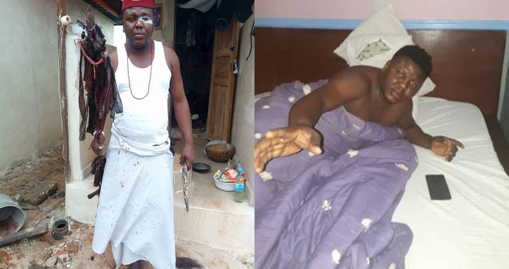 Native Doctor raises alarm after being 'fed by witches' in the dream