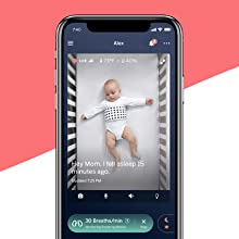 Nanit Pro Smart Baby Monitor & Wall Mount   baby monitor with camera and audio