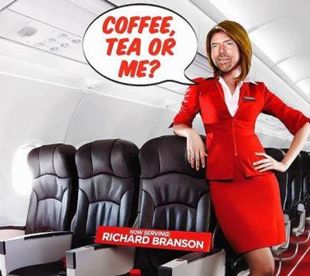 AirAsia Stewardess Richard Branson