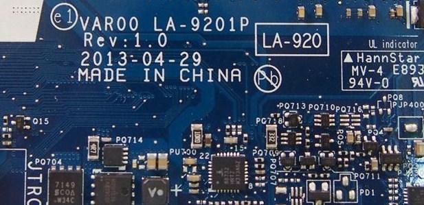 LA-9201P Rev 1.0 VAR00 Dell Alienware 14 Bios