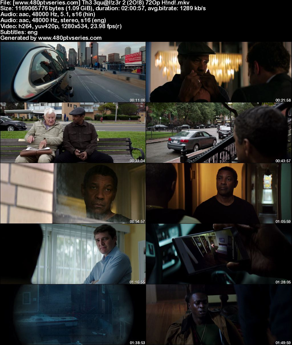 Watch Online Free The Equalizer 2 (2018) Full Hindi Dual Audio Movie Download 480p 720p Bluray