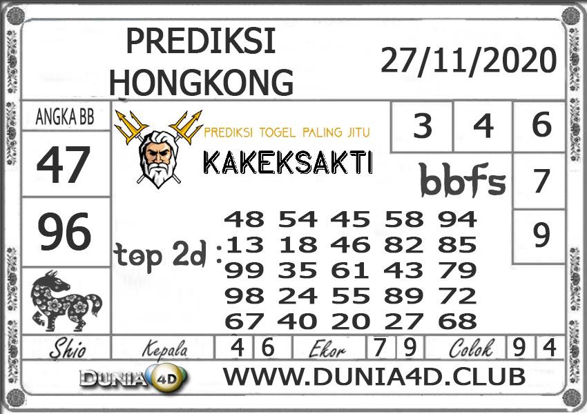 Prediksi Togel HONGKONG DUNIA4D 27 NOVEMBER 2020