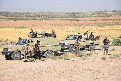 اللواء 110 بالحشد يشرع بعملية أمنية لتأمين المناطق المحيطة بقضاء خانقين في ديالى