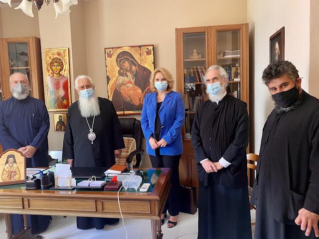 Επίσκεψη της Δημάρχου Χαλκιδέων στον Σεβασμιώτατο Μητροπολίτη Θηβών και Λεβαδείας