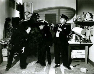 The Three Stooges Dizzy Detectives Moe Larry Curly as cops