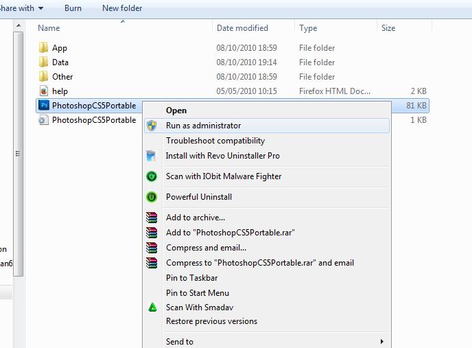 Adobe photoshop cs5 portable full 120 mb indir : safibi
