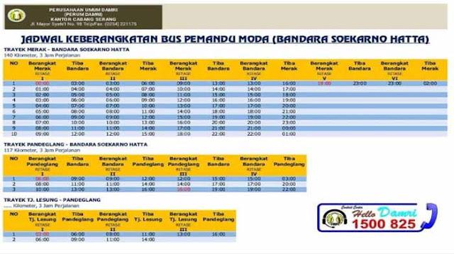 Jadwal Damri Bandara Soekarno Hatta ke Merak