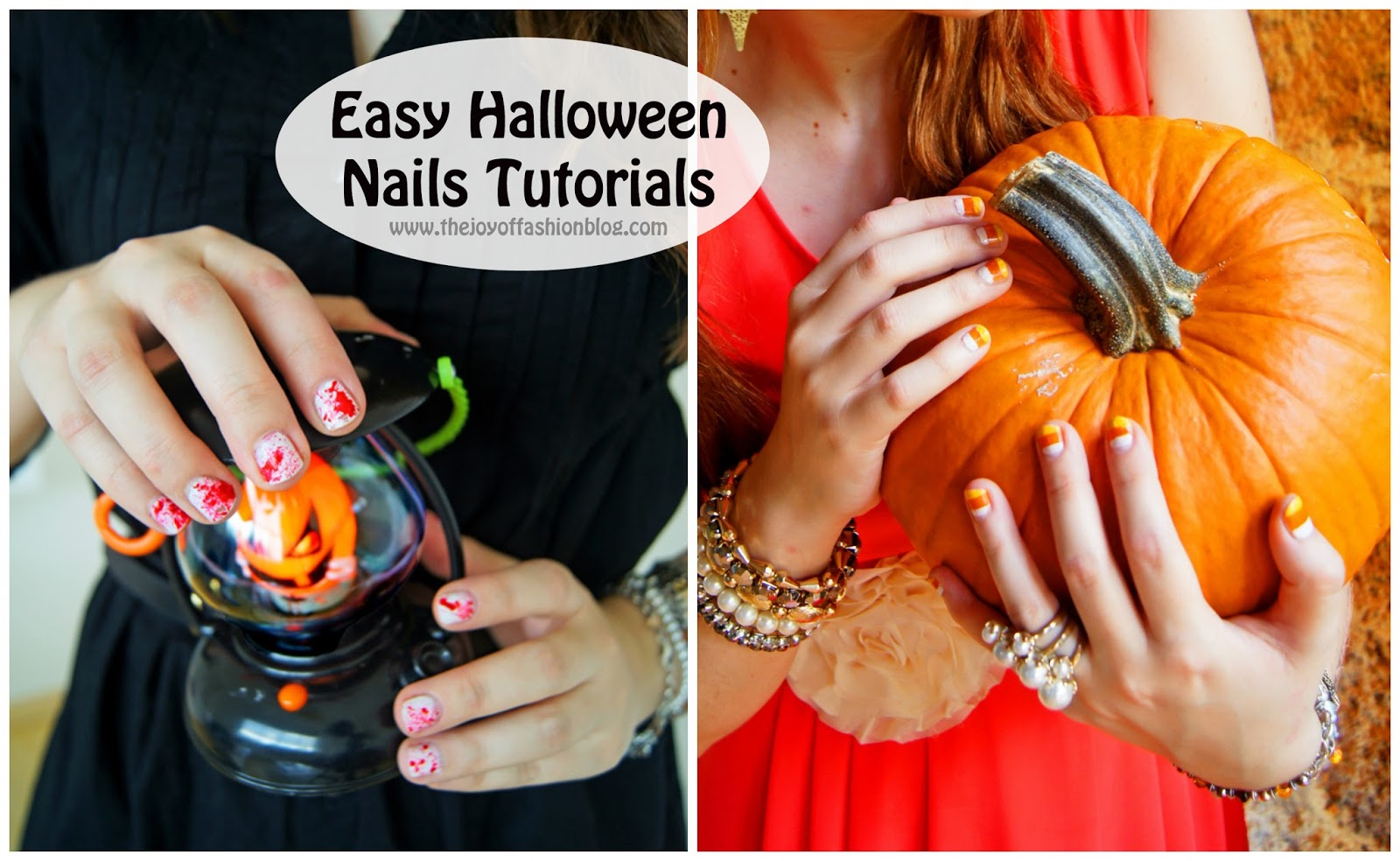 These two nail designs are perfect for Halloween and SO easy to do! Click through for full tutorial