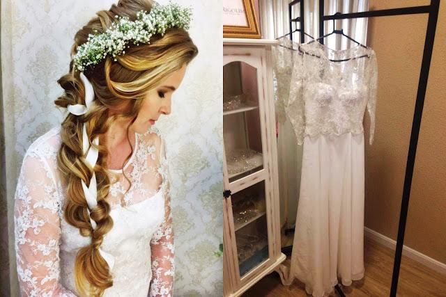 vestido de noiva simples, vestido de noiva gleikka, renda e chiffon, casamento de dia, noiva de dia, vestido simples e delicado, sofisticado, gleikka, gleika