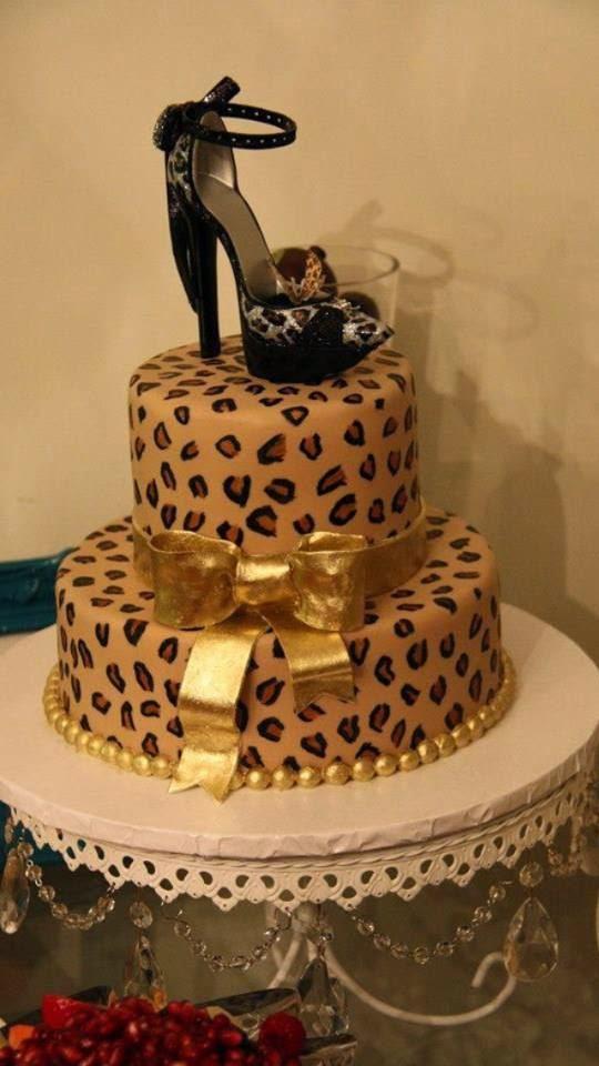 Leopard Design Birthday Cake : Minha Cozinha: Bolo de estampa Oncinha