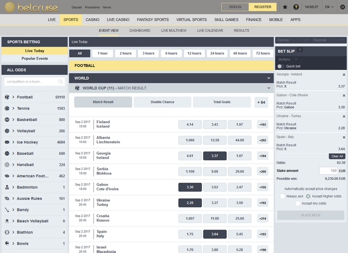 Betcruise Screen