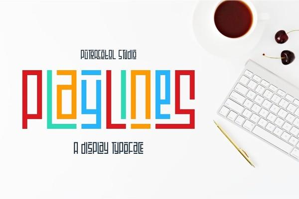 Playlines Typeface Font