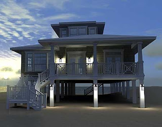Elevated Beach House Plans