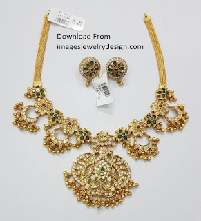 Indian jewelry style gold Necklace designs Images