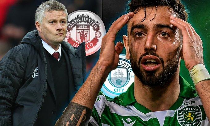 OMG! Manchester City Ready €100m Bid For Bruno Fernandes Amid Rivals Man Utd Transfer Links (Details)