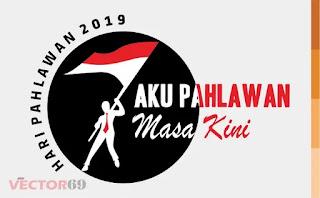 Logo Hari Pahlawan 2019: Aku Pahlawan Masa Kini - Download Vector File AI (Adobe Illustrator)