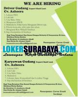 Info Loker Surabaya di CV. Azheera Abadi Gresik Surabaya Agustus 2020