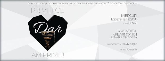 Concert de Crăciun - Priviți ce dar am primit la Timisoara