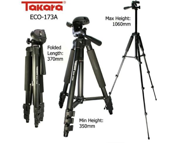 Ingin membuat video tanpa ribet? Yuk intip tripod takara