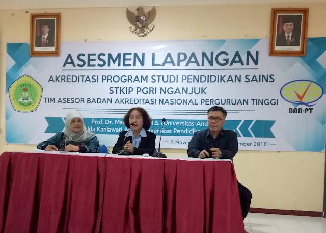 Pelaksanaan Asesmen Lapangan Program Studi Pendidikan Sains Oleh Team Akreditasi BAN-PT