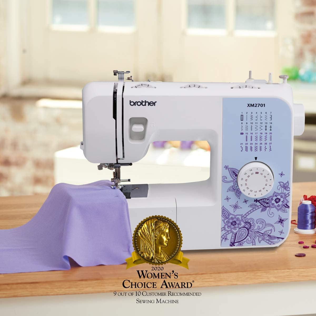 Brother XM2701 Sewing Machine, Lightweight, Full Featured ...