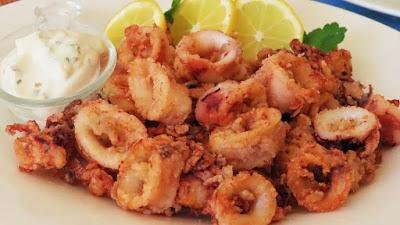 Ražnjići od lignji u pećnici + Pržene lignje // Calamari on a Stick Oven-Baked + Fried Calamari