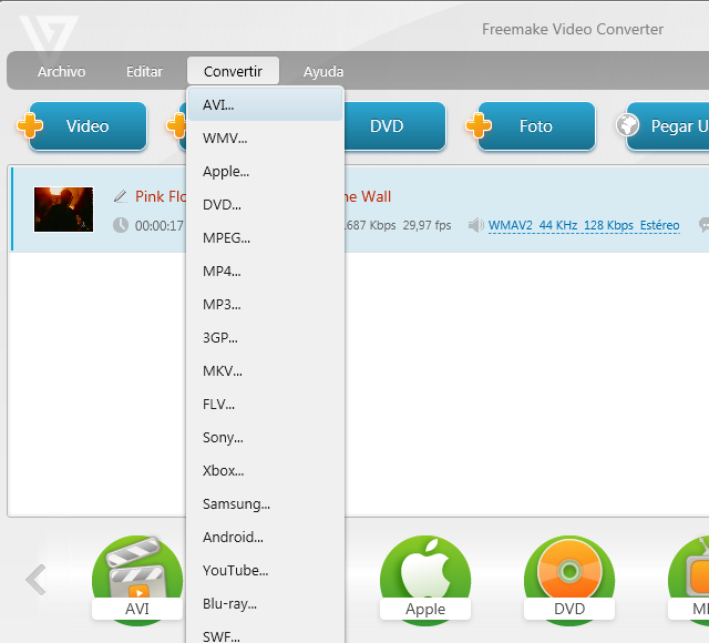 Nuevo vídeo Freemake Video Converter