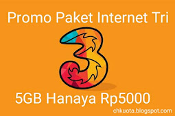Promo paket internet Tri 5Rb 5GB kuota, Cek Disini Cara Mengaktifkan nya