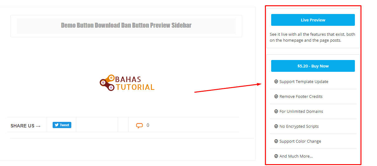 Cara Membuat Button Demo Dan Download Di Sidebar Di Blogger