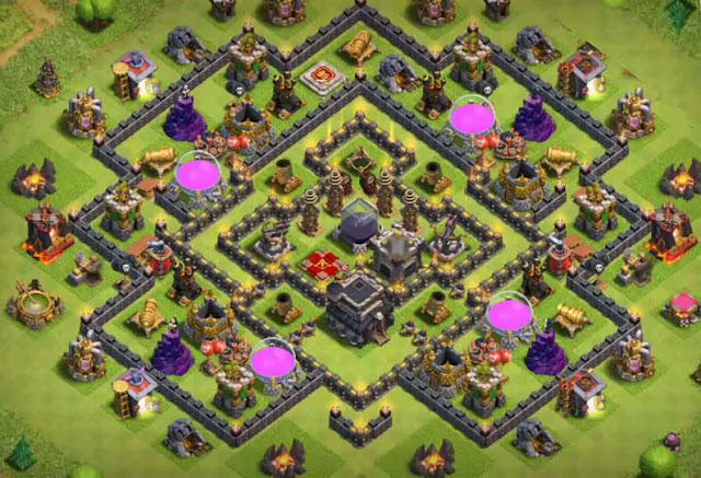 Base COC TH9 Farming 27