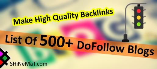 DoFollow CommentLuv Blogs List