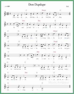 not balok lagu don dapdape