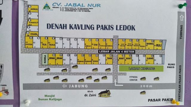 Tanah Kavling Pakis Ledok Malang 50 jutaan