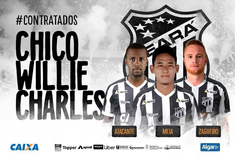 cc48c55c14 Ceará contrata pacote de cinco de jogadores para temporada 2019