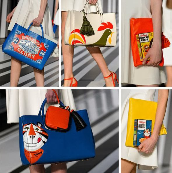 "Anya Hindmarch and Moschino Fall/Winter 2014: Social commentaries or Just Plain ""Pop"" Fun?"