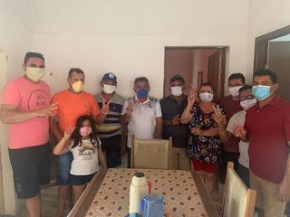 PDT e PSB de Cacimba de Areia declaram apoio ao projeto de reelição do prefeito Rogério Campos