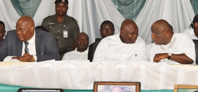 Photos: Gov Ambode Wears School Uniform to his Alma Mater, FGC Warri