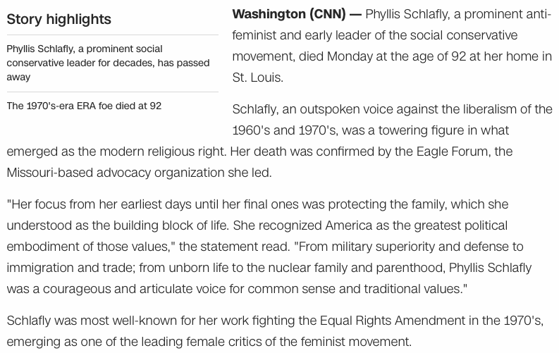 a critique of phyllis schlaflys school to work will train not educate Phyllis schlafly, conservative leader and foe of on whether women should or should not work phyllis schlafly said, she did not.