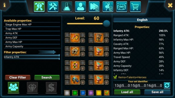 Gear Tersakit Infantry Untuk Menyerang (Full Attack)