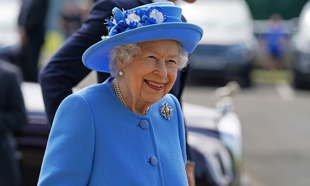 Queen Elizabeth II and The Duke of Cambridge, named as the Earl of Strathearn in Scotland, visited AG Barr's factory