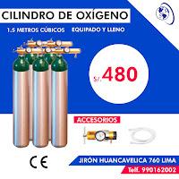 anuncio cilindro oxigeno balon precio numero telefono