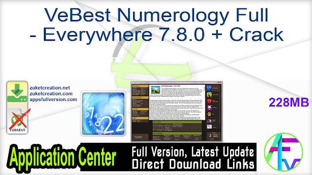 VeBest Numerology Full – Everywhere 7.8.0 + Crack