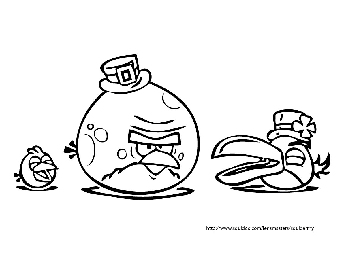 Angry birds coloring pages Squid
