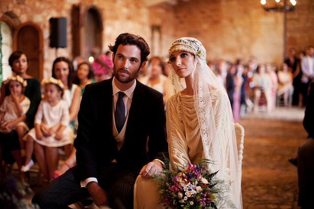 12312ccb0 Boda Espía  una novia con un auténtico vestido vintage Boda Espía ...