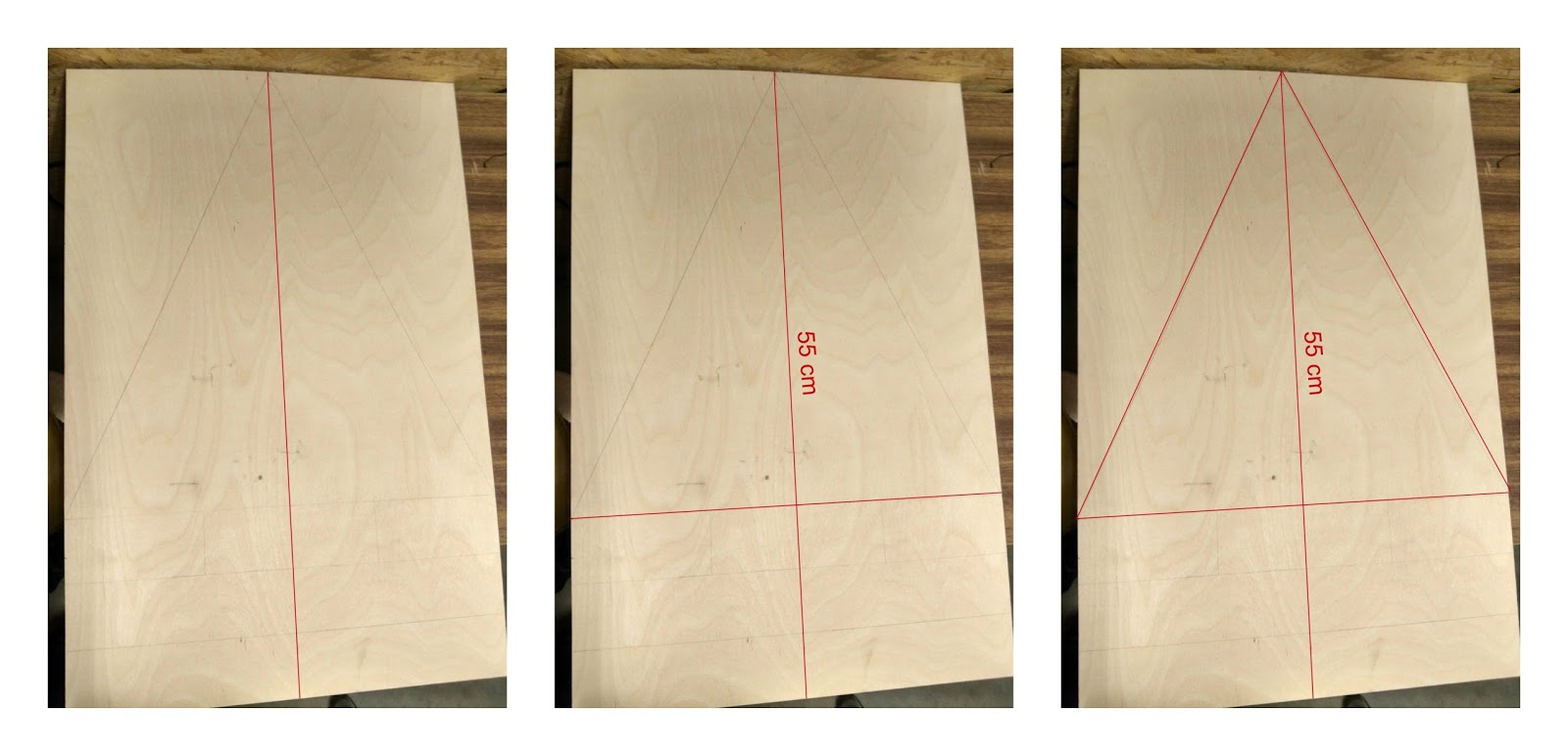 Drawing Lines In Cm Ks : Modern plywood christmas tree diy perfect handmade