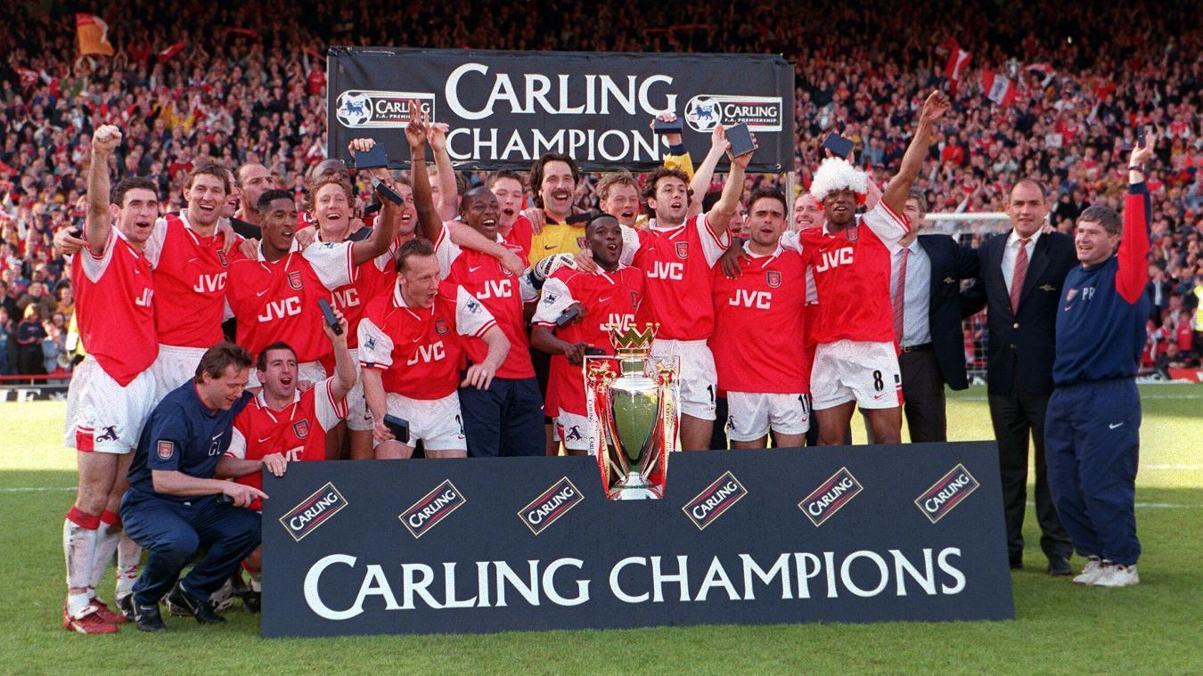 premier league champions arsenal fc 1997/98 squad