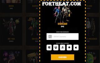 Fortheat.com : How to get free fortnite skins using fortheat.com free skins